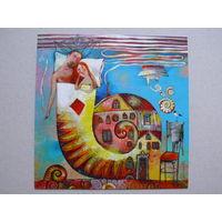 Современная открытка, Силивончик Анна, Домик у моря; 2013, чистая (Россия).