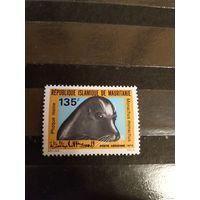 1973 Мавритания Ивер 132 оценка 5,5 евро средиземноморский тюлень -монах фауна авиапочта чистая без клея без дыр (3-11)