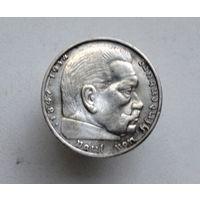 Германия 2 марки 1939 г.B (Третий рейх) серебро