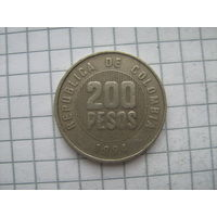 Колумбия 200 песо 1994г.