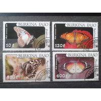 Буркина Фасо 1984 Бабочки Полная серия Михель-6,5 евро гаш