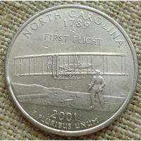 25 центов 2001 США - Северная Каролина