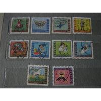 Швеция, частная почта, сказки, мультфильмы, лошади, транспорт, техника, - Карлсон и Малыш,  Пеппи Длинныйчулок и др. - непочтовые марки