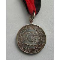 Памятная медаль.Война 1870-71 года.серебро.(на родной ленте)
