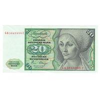 Германия ФРГ 20 марок 1980 года. Состояние XF+/aUNC! Редкая!