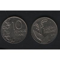 Финляндия km65 10 пенни 1991 год (M) (f314)