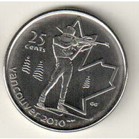 Канада 25 цент 2007 XXI зимние Олимпийские Игры, Ванкувер 2010 Биатлон