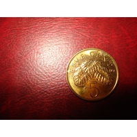 5 центов 2005 год Сингапур