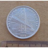 Португалия, 20 эскудо 1966 г., серебро, мост Салазара в Лиссабоне