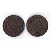 Австро-Венгрия 2 геллера 1897