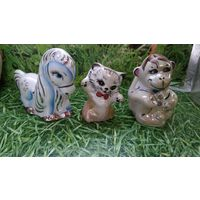 Статуэтки Добруша, добрушский фарфор, лошадка, обезьянка, котик