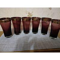 Набор стаканов (6 штук) марганцевое стекло