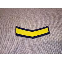Нашивка годичка нарукавный знак по годам службы для прапорщиков ВВС СССР 4 год службы на парадную форму