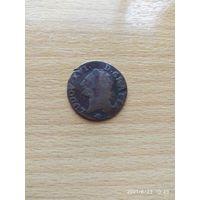Королевство Франция, Людовик XVI, лиард 1790 год. Монетный двор Монпелье. Тираж неизвестен.