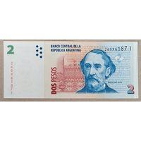 2 песо 2014 года - Аргентина - aUNC