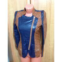 Новая кожзам куртка на 42-44