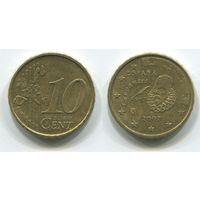 Испания. 10 евроцентов (2002)