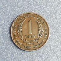 G Восточные Карибы  1 цент 1964 г. Елизавета вторая Парусник