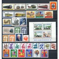 Берлин - 1971г. - Полный годовой набор - MNH, 6 марок с незначительными дефектами - 35 марок и 1 блок