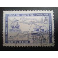 Чили 1968 теплоход и парусник