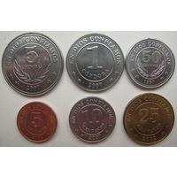 Никарагуа 5, 10, 25, 50 сентаво, 1 и 5 кордоба 1997-2007 гг. Комплект (g)