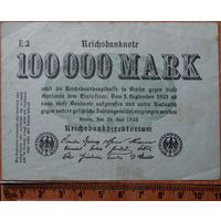 100000 марок 1923г. Берлин
