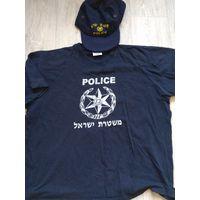 Полиция Израиля. Майка и кепка форменные.