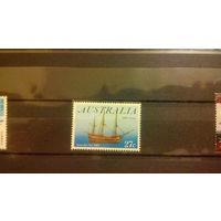 Корабли, транспорт, флот, парусники, марка, Австралия 1983