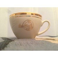 Чашка кружка фарфоровая кофейная Дорресторан МТ БССР эпохи развитого социализма