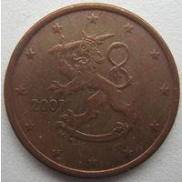 Финляндия 5 евроцентов 2001 г.