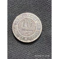 L004 10 сантимов бельгия 1861