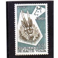 Верхняя Вольта.Ми-73. Дукер. Серия: Трибальное африканское искусство Бобо.1960.