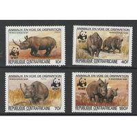 ЦАР. Носорог (WWF). 1983г.