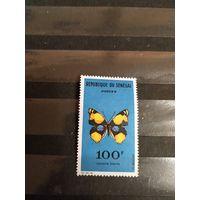 1963 Сенегал дорогая  фауна бабочка чистая без клея без дыр (1-2)