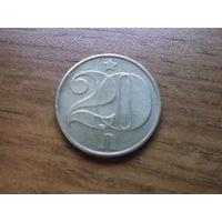 Чехословакия 20 геллеров 1989