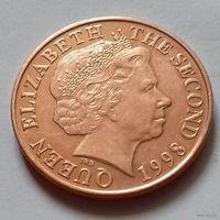 2 пенса, Джерси 1998 г., UNC