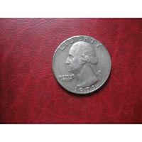 25 центов 1971 год  США D