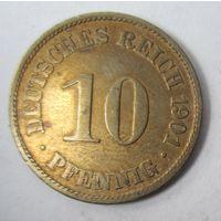 Германия. 10 пфеннигов 1901 A .  1-38