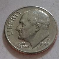 10 центов (дайм) США 1994 D