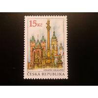 Чехия 2008 кирха и группа памятников святым