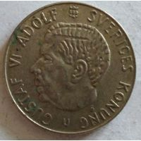 Швеция 1 крона 1963 серебро