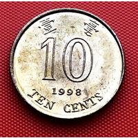 118-16 Гонконг, 10 центов 1998 г.
