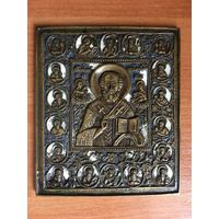 Икона Николай чудотворец с учениками