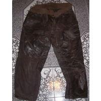 Штаны кожаные ВМФ СССР латунные пуговицы.10% утраты.
