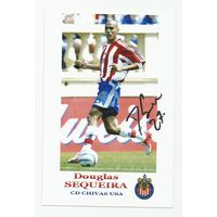 Douglas Sequeria(Chivas, США). Живой автограф на фотографии.