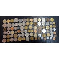 Сборка монет весь мир. 87 шт.