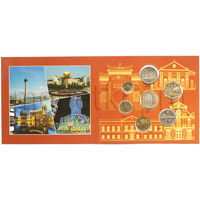 Макао 7 монет 1993-2010 годов. Здания в буклете (XF-UNC)