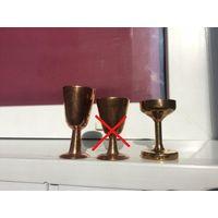 Маленький кубок, рюмка, мини - ступка Латунь/бронза  Цена за 1