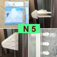 Блокираторы на мебель N5 для шкафа купе, раздвижных (защита от детей)