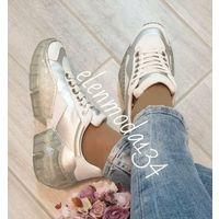 Кроссовки белые с  прозрачной  подошвой р.39 (в  размер)